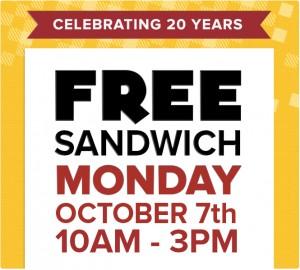 Free Dilly's Sandwich