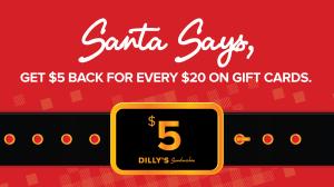 Dilly's Holiday Savings Card